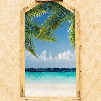 Beach Hut Ocean Views Backdrop - 6929