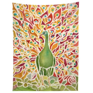 Rosie Brown Grove Peacock Tapestry