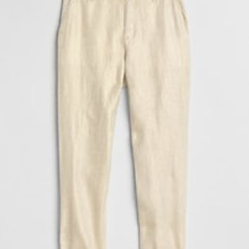 Metallic Girlfriend Chinos in Linen-Cotton | Gap