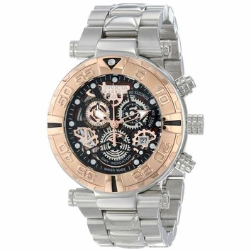 Invicta 15616 Men's Subaqua Noma I Black Brown Rose Gold Skeleton Dial Chronograph Dive Watch
