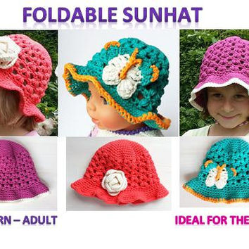 Sunhat, foldable, airy, newborn - adult