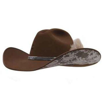 The Tack Room , Inc.: Charlie 1 Horse Cowgirl Felt Hat Leather and Lace - The Tack Room , Inc.
