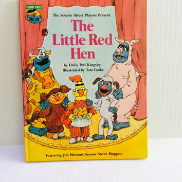 The Sesame Street Players Present: The Little Red Hen - Vintage Children's Book - 1981