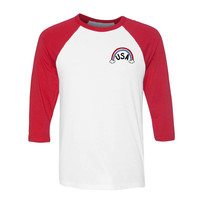 USA Rainbow Pocket Baseball Tee