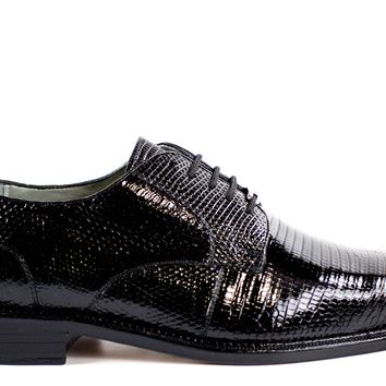 "Belvedere ""Olivo"" Lizard Skin Dress Shoe"