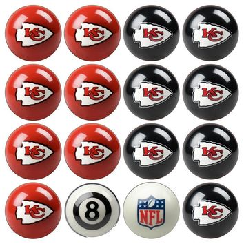 Kansas City Chiefs NFL 8-Ball Billiard Set