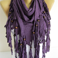 Trend Scarf-purple Scarf- Shawls-Scarves-gift Ideas For Her Women's Scarves-christmas gift- for her -Fashion accessories
