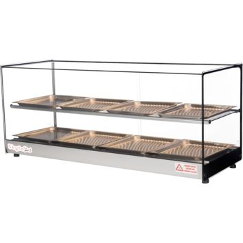 """Commercial Countertop Food Warmer Display Case 44"""" with 8 Trays"""