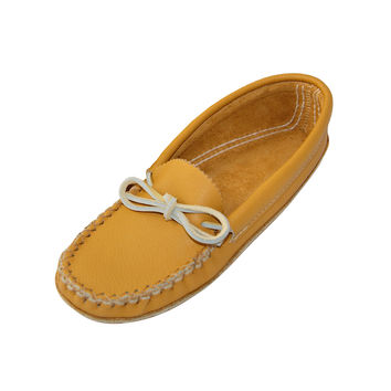 Women's Soft-Sole Cowhide Leather Moccasins - 188-L