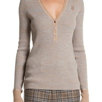 MARC JACOBS Ribbed V-Neck Wool Sweater | Nordstrom