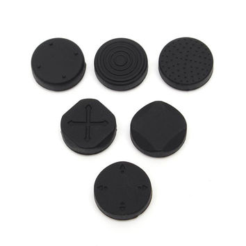 6 In 1 Protective Button Pad Kit Silicone Grip Analog Joystick Cap Cover For Sony For PS Vita PSV 1000 2000 Console