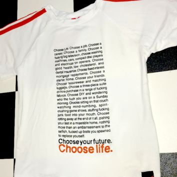 SWEET LORD O'MIGHTY! TRAINSPOTTING CROP TEE