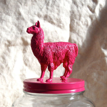 Fabulous Hot Pink Llama Cookie Jar