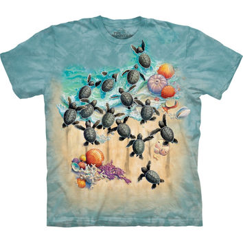 Turtle Hatchlings on the Beach Kids T-Shirt