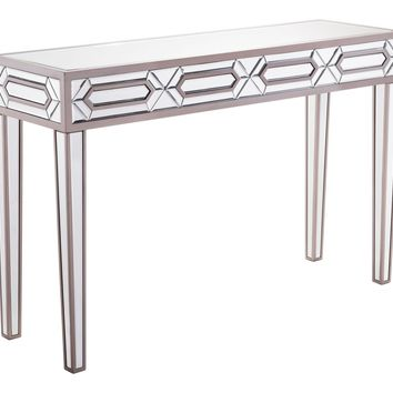 Hexa Console Table Mirror And Gray