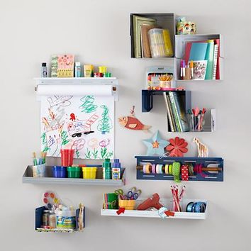 Up Against the Wall Bin Paper Holder (White) in Storage Collections | The Land of Nod