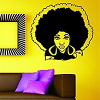 Dabbledown Beautiful Woman with Afro Version 101 Car Window Laptop Windshield Banner Lettering Decal Sticker Decals Stickers Girl JDM Drift