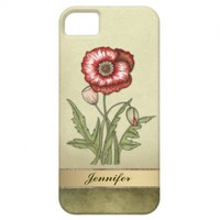 Red Poppy Vintage iPhone 5 Covers from Zazzle.com
