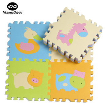 9pcs Cartoon Animal Pattern Carpet EVA Foam Puzzle Mats Kids Floor Puzzles Play Mat For Children Baby Play Gym Crawling Mats