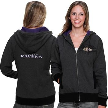 Pro Line Baltimore Ravens Women's Tundra Forager Full-Zip Hooded Jacket