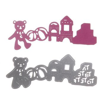 Kids Cutting Dies Stencil Craft Bear Family Drawing Toys