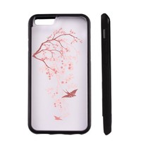 Cherry Blossom Clear Transparent Plastic Phone Case/Phone Cover for iphone 6 6s _ SUPERTRAMPshop (ip 6 TPUB)