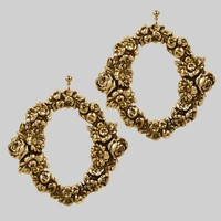 ROSE WREATH. Floral Earrings - Gold – REGALROSE
