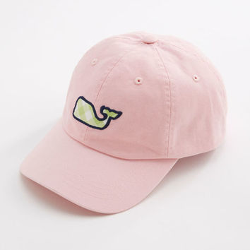 Shop Gingham Whale Patch Baseball Hat at vineyard vines