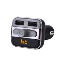 Pumpkin LED Bluetooth Hands Car Kit FM Transmitter Modulator Wireless Music and Dual Charging Port Car Charger