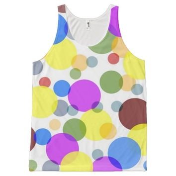 Multicolored Polka Dots All-Over Print Tank Top