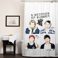 5 seconds of summer poster custom shower curtain