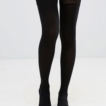 ASOS 50 Denier Lace Top Hold Ups at asos.com