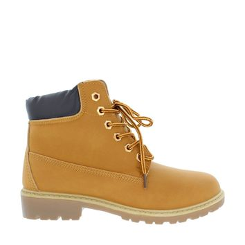 Lace Up Work Boot (TAN)