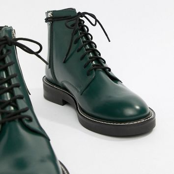 ASOS DESIGN Anarchy leather lace up boots at asos.com