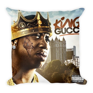 King Gucci (16x16) All Over Print/Dye Sublimation Gucci Mane Couch Throw Pillow Insert & Pillow Case/Cover