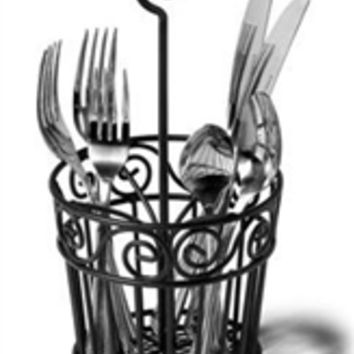 Black Wire Frame Silverware Caddy