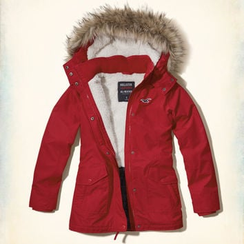 Hollister All-Weather Sherpa Lined Parka