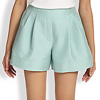 3.1 Phillip Lim - Textured Pleated Shorts - Saks Fifth Avenue Mobile
