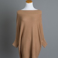 Bristol Camel Off the Shoulder Sweater