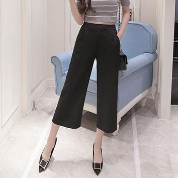 Palazzo Pants Chiffon For Women 2017 Korean Fashion Summer Loose High Waist Ankle-length Plus Size Ladies Trousers Hot Sale XXXL