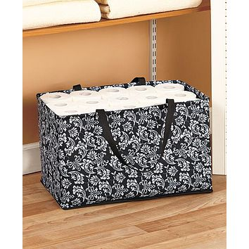 Extra Large Jumbo Decorative Home Household Collapsible Foldable Storage Organizer Tote Bin