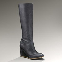 UGG® Kendrick for Women | Leather Wedge Tall Boots at UGGAustralia.com