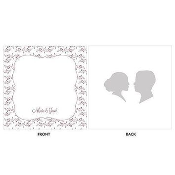 Silhouette Engraved Personalised Acrylic Block Cake Topper (Pack of 1)