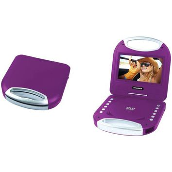 "SYLVANIA(R) SDVD7049-PURPLE 7"" Portable DVD Player with Integrated Handle (Purple)"