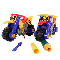 Assembled Toys Disassembled Motorcycle Model Kids Children's Educational Toy With Screwdriver