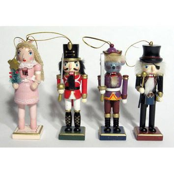 """5"""" Nutcracker Ballet Character Ornaments (With Pink Clara)"""