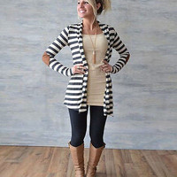 Women Fashion Long Cardigan Coat Long Sleeve Casual Loose Sweater Jacket Outwear