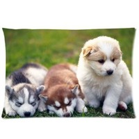 "Cute Puppy Pillowcase Covers Standard Size 20""x30"" CC4379"