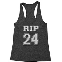 RIP Rest In Peace 24 Racerback Tank Top for Women