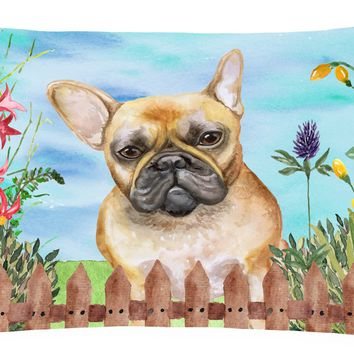 French Bulldog Spring Canvas Fabric Decorative Pillow CK1250PW1216